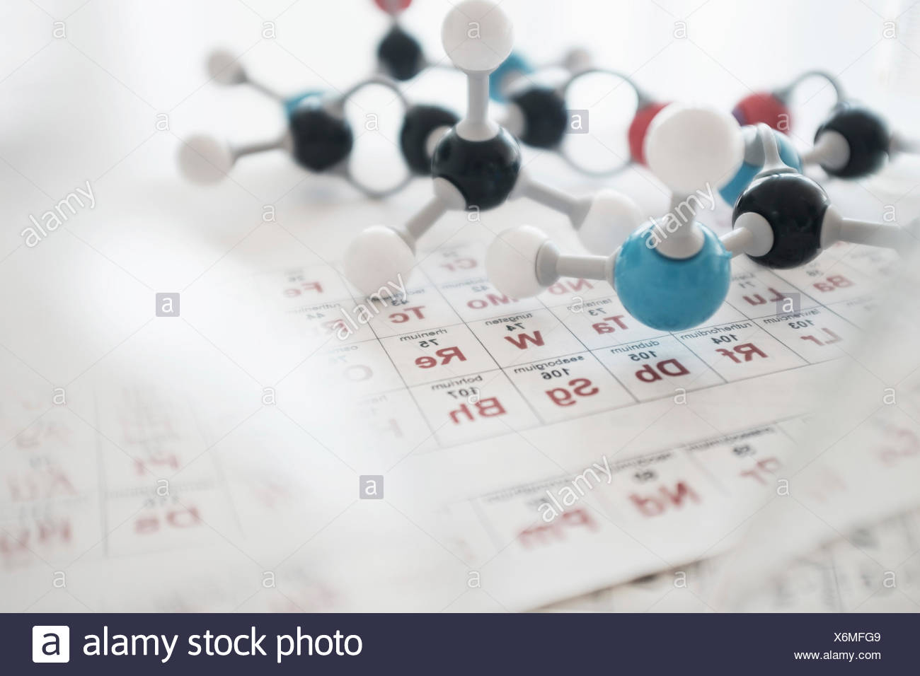 Groovy Molecular Structure And Periodic Table On Desk Stock Photo Beutiful Home Inspiration Truamahrainfo