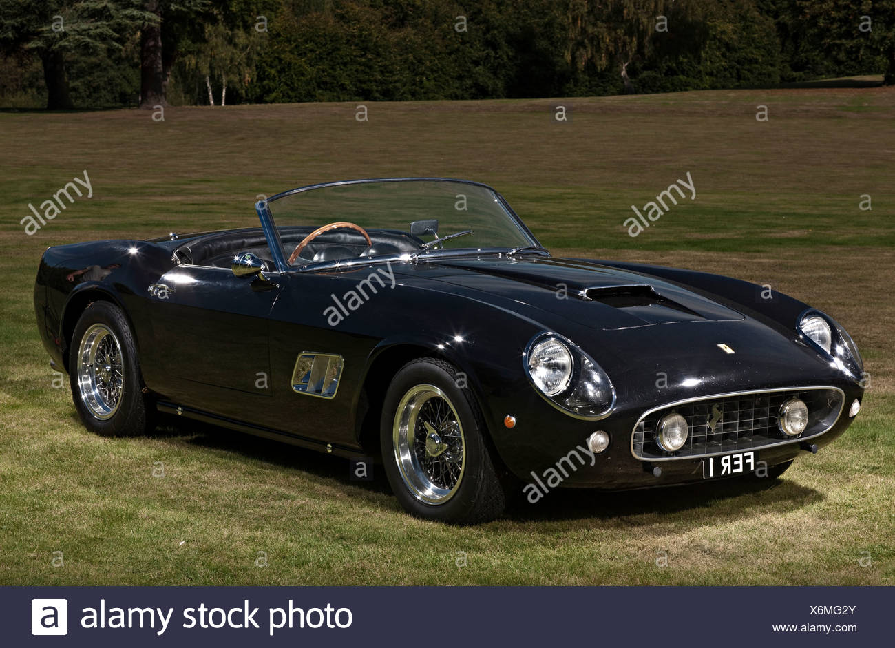Black Classic Ferrari California sports car Stock Photo