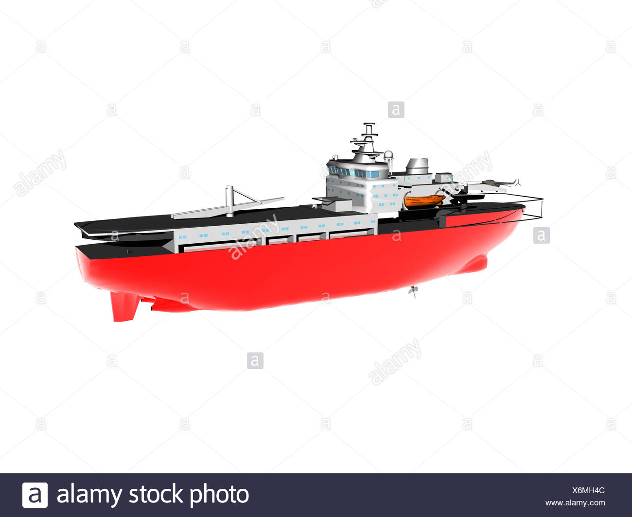 exempted cargo ship at sea - Stock Image