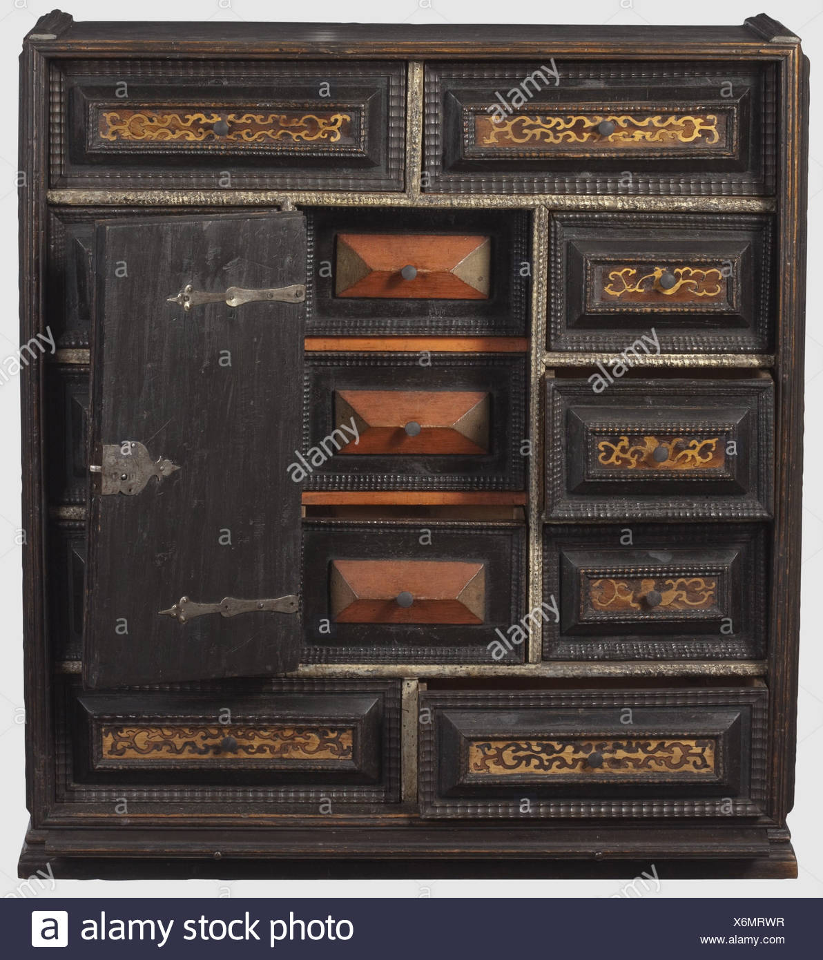 A German Cabinet 2nd Half Of The 17th Century A Tall