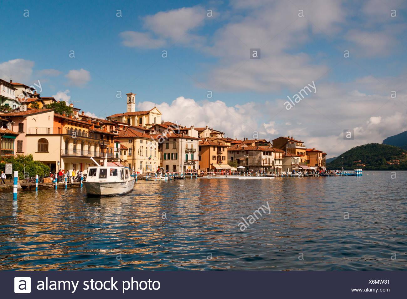 Iseo lake, Lombardy, Italy, Montisola - Stock Image