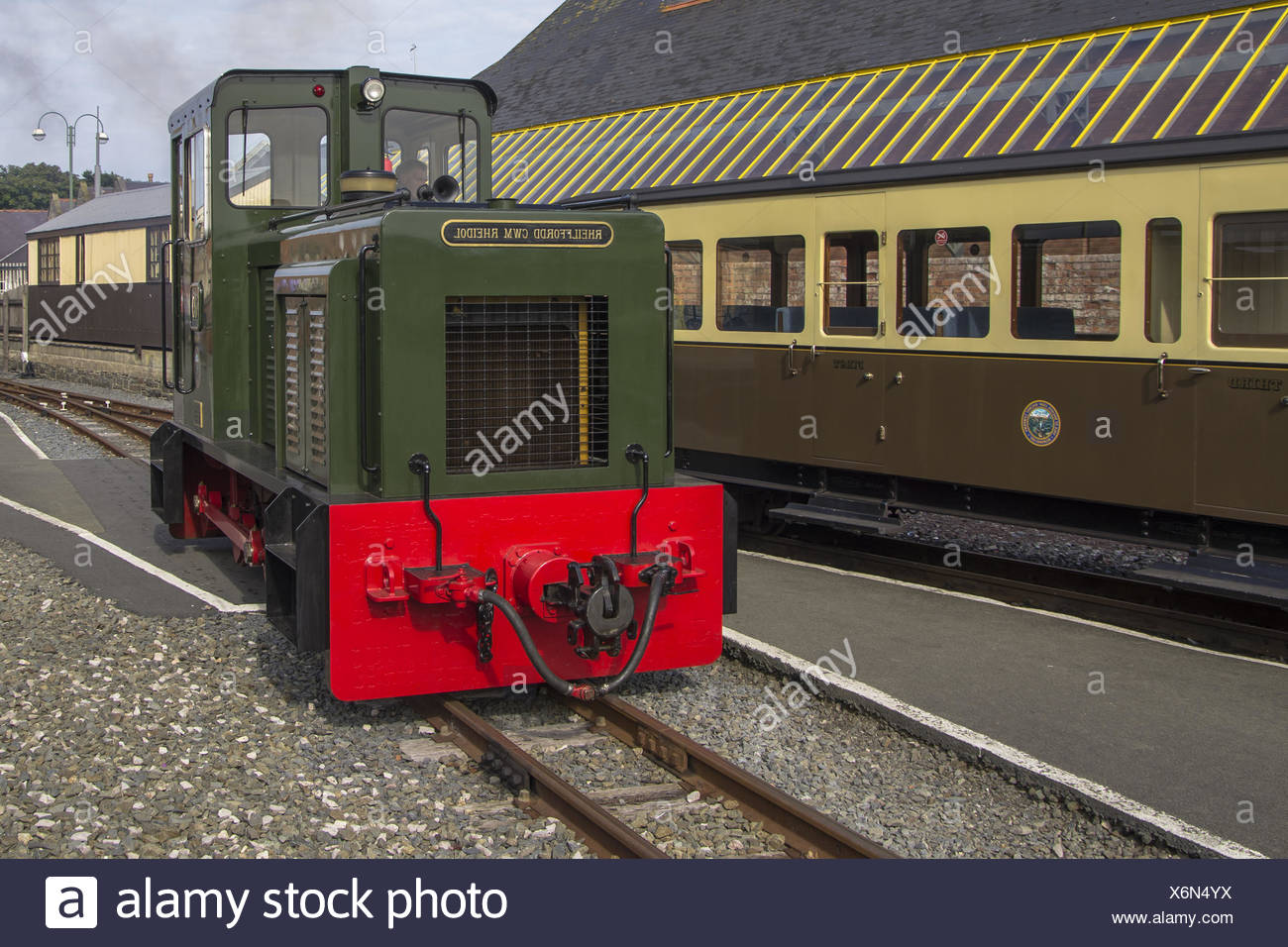 shunting in Aberystwyth - Stock Image