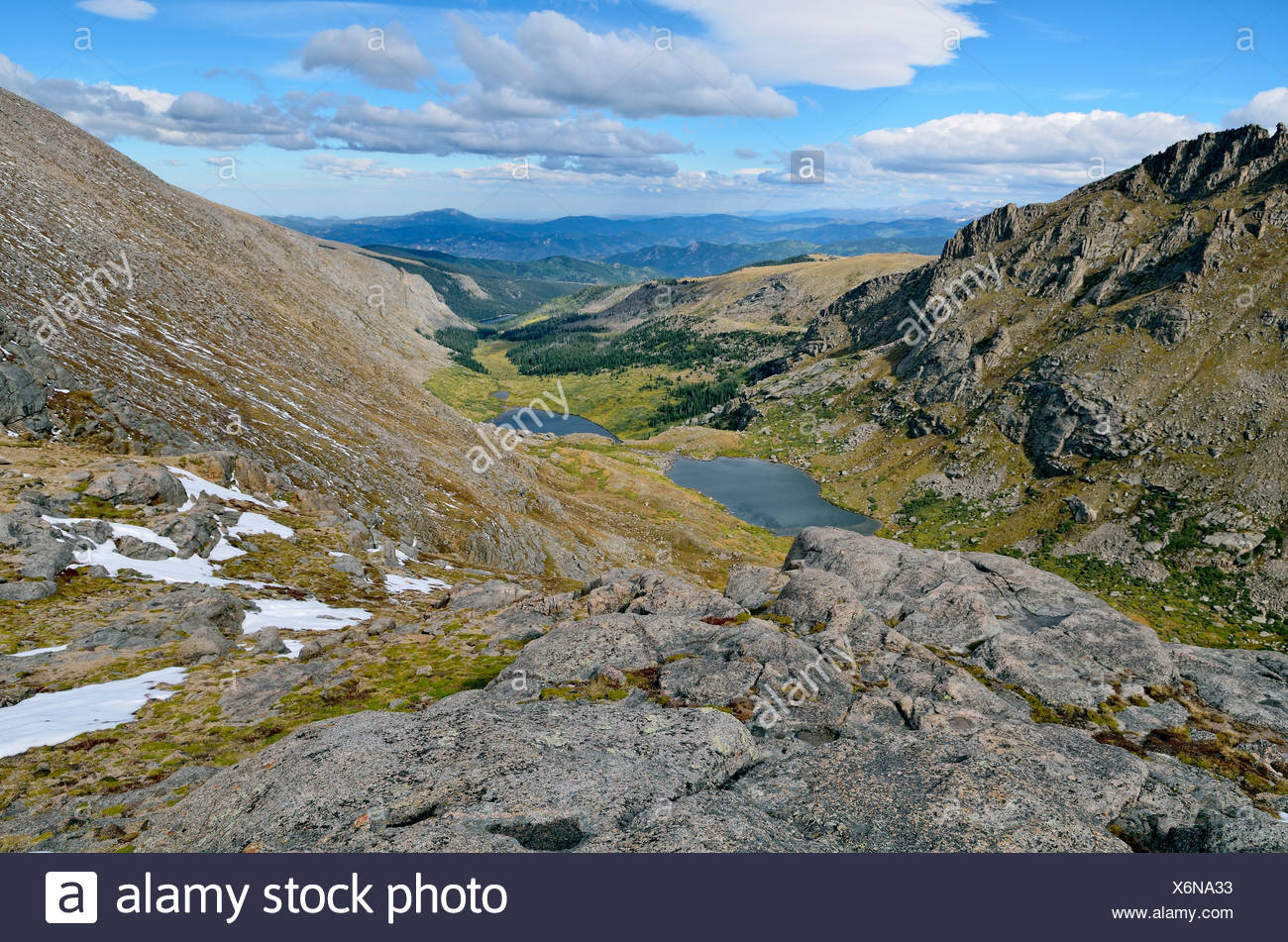 Chicago Lakes, Mount Evans Wilderness Arapaho National Forest, Idaho Springs, Colorado, USA - Stock Image