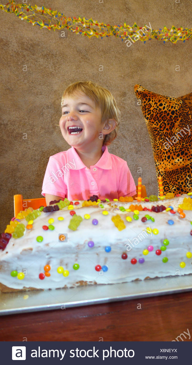 Remarkable Little Boy With Giant Birthday Cake Stock Photo 279526574 Alamy Birthday Cards Printable Benkemecafe Filternl