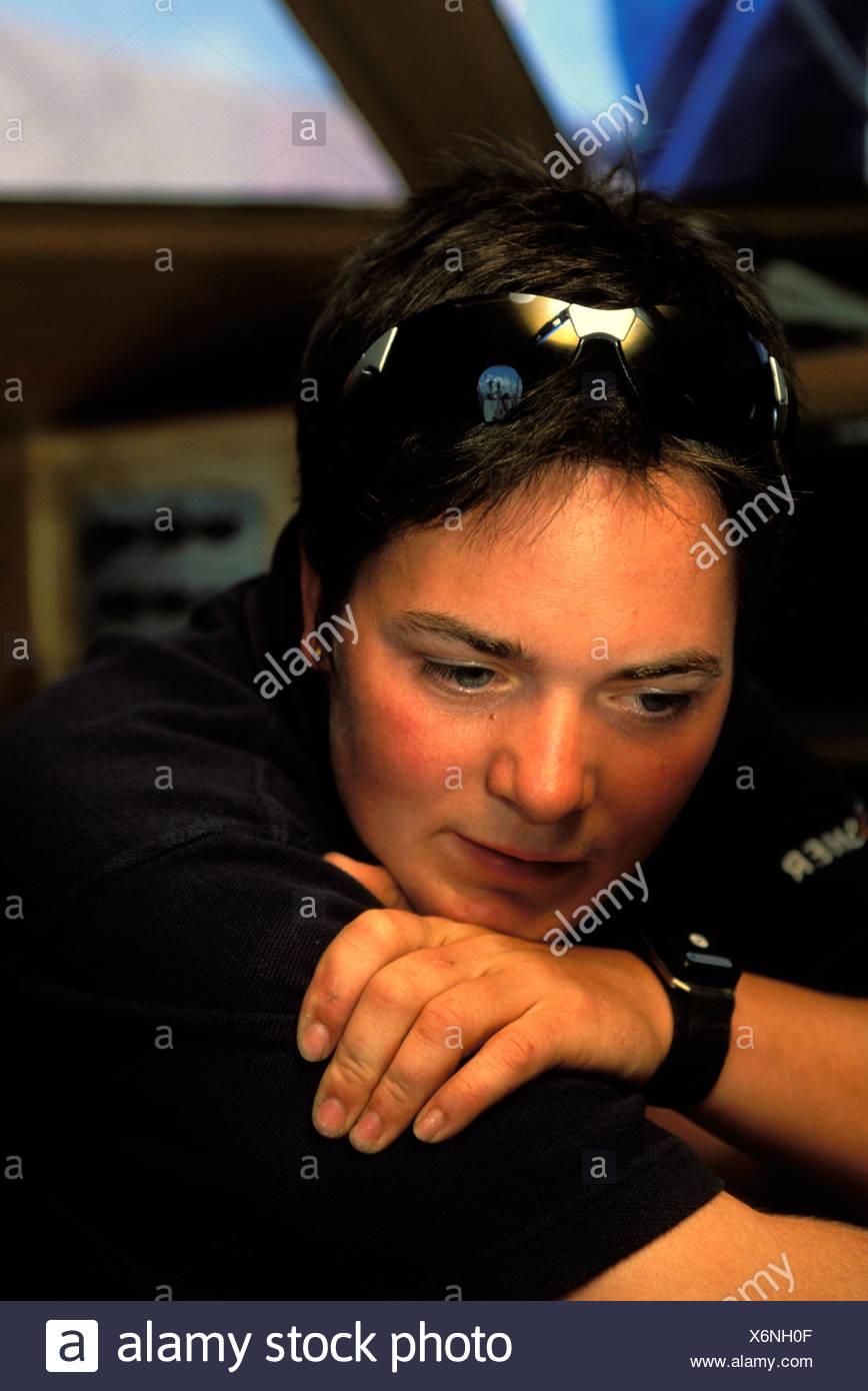 British single handed sailor Ellen MacArthur. - Stock Image