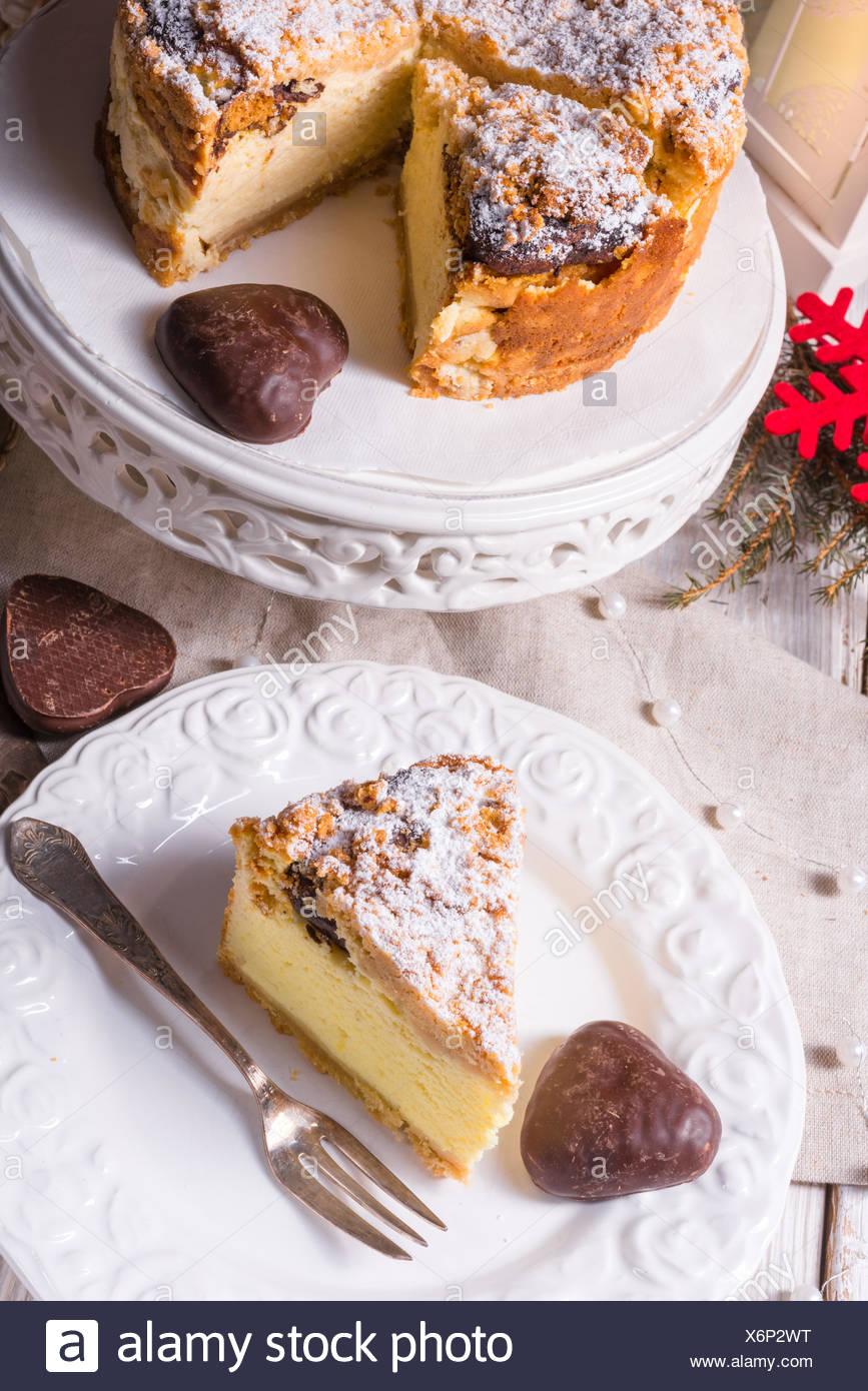 Christmas Cheesecake - Stock Image