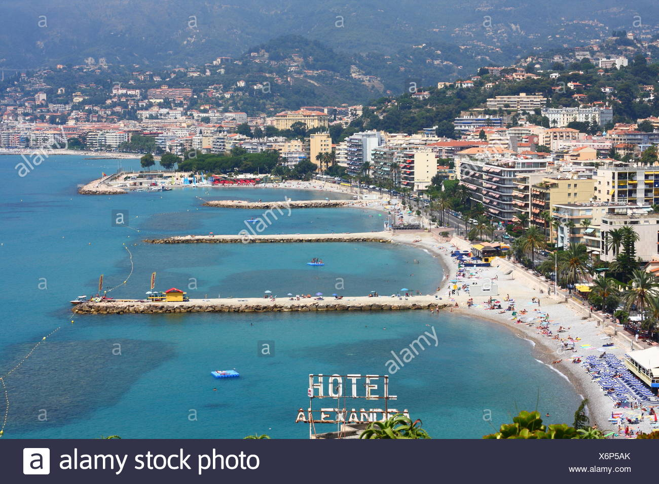 Italy Sanremo Beach Stock Photos Italy Sanremo Beach Stock