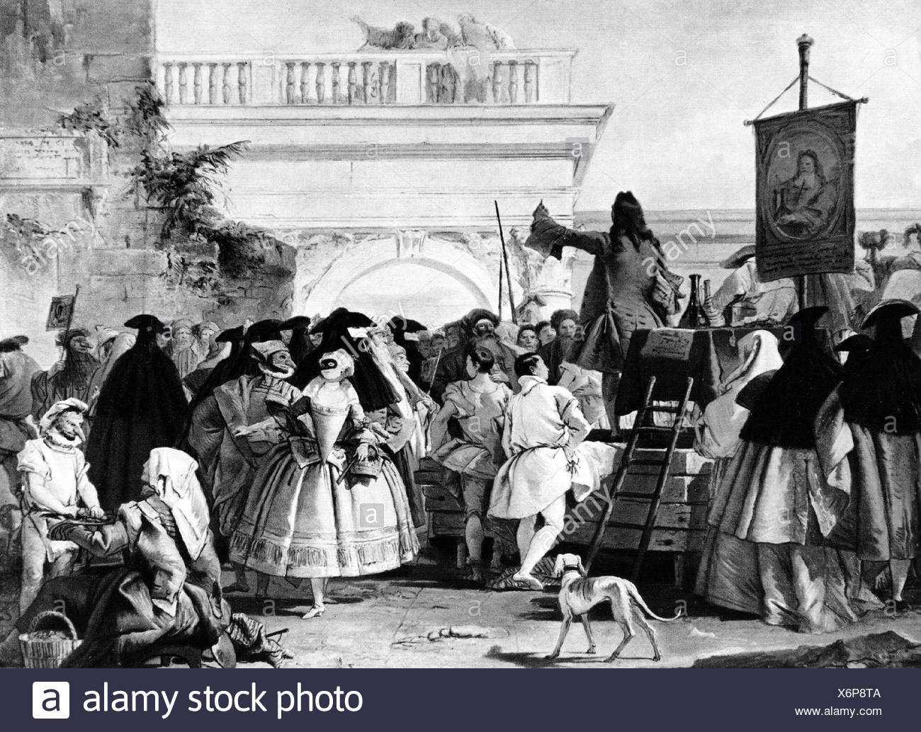 medicine, the charlatan Giambattista Tiepolo (1696 - 1770),  Additional-Rights-Clearances-NA