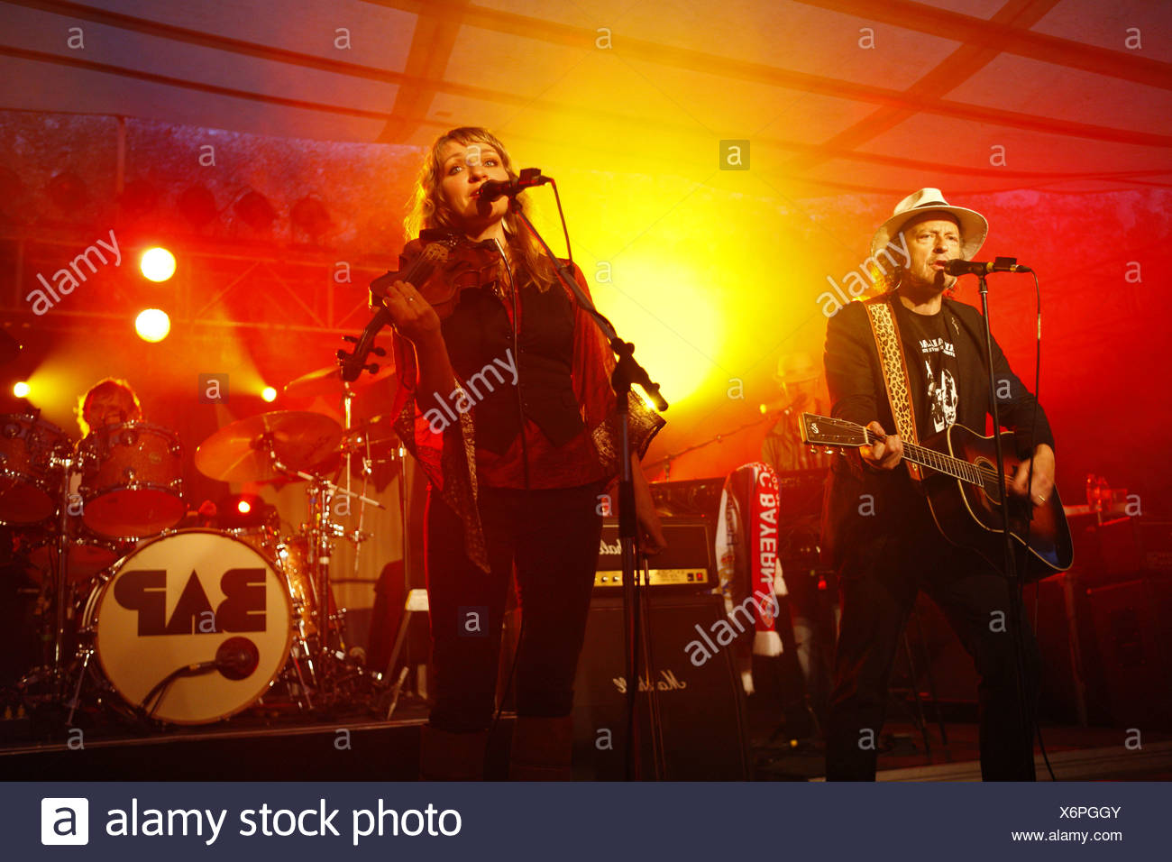 BAP, Cologne rock band, open air concert, Muehldorf am Inn, Bavaria, Germany Stock Photo