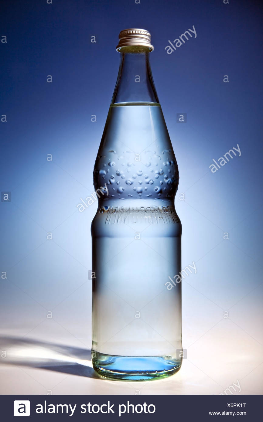 A bottle of mineral water Stock Photo