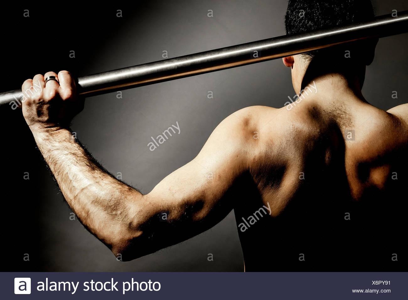 male back - Stock Image