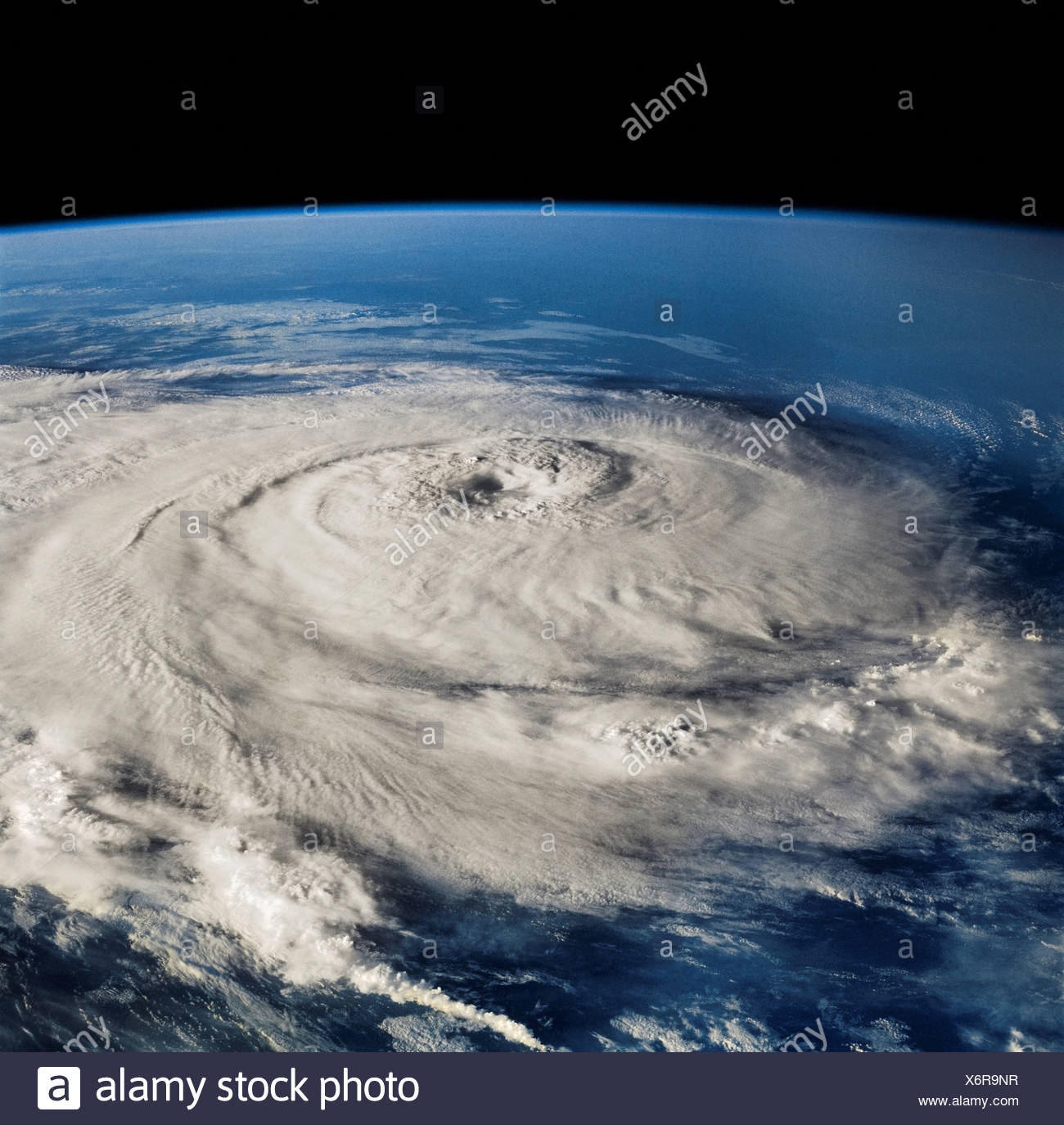 Hurricane Elena as Seen from Space Shuttle Discovery - Stock Image