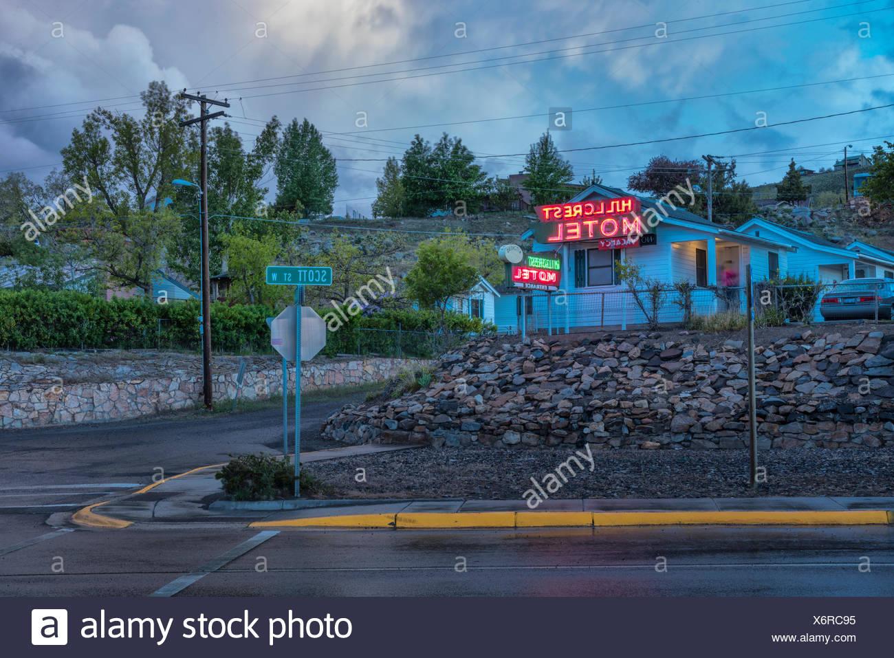 nights,Gardiner,Montana,USA - Stock Image