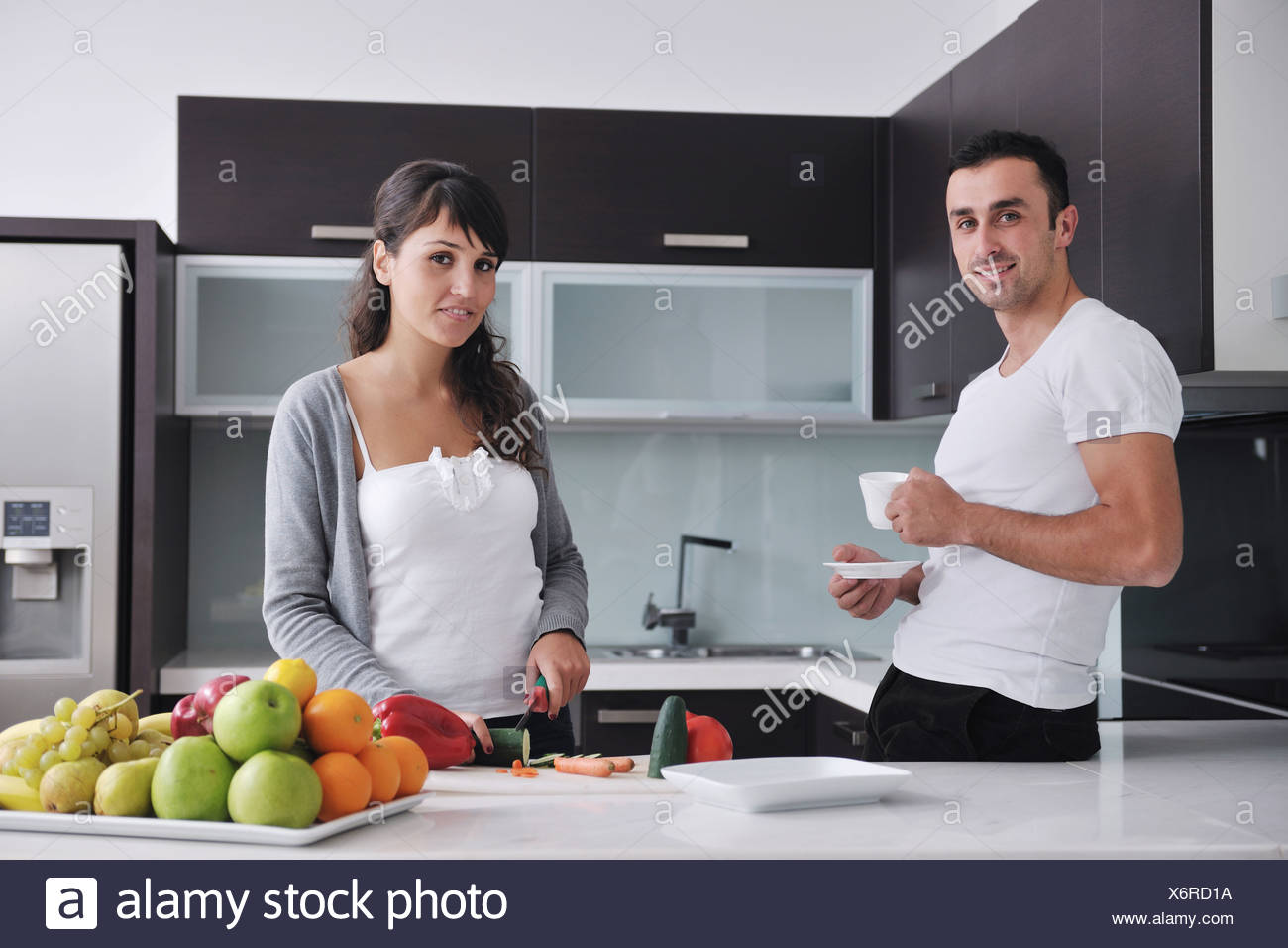Two Women In Kitchen Stock Photos & Two Women In Kitchen Stock ...