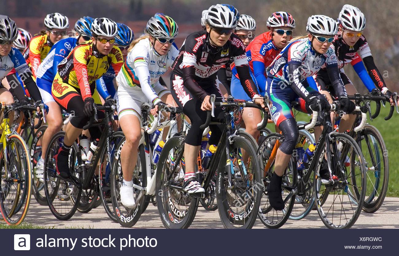 Cycle Race Women - Stock Image