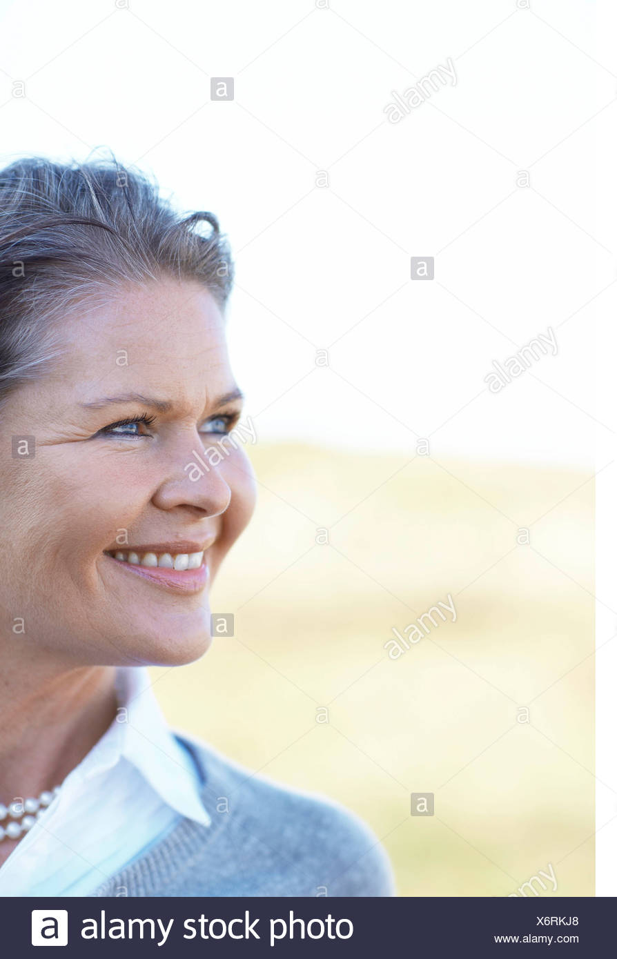 Close up of mature beauty in nature - Stock Image