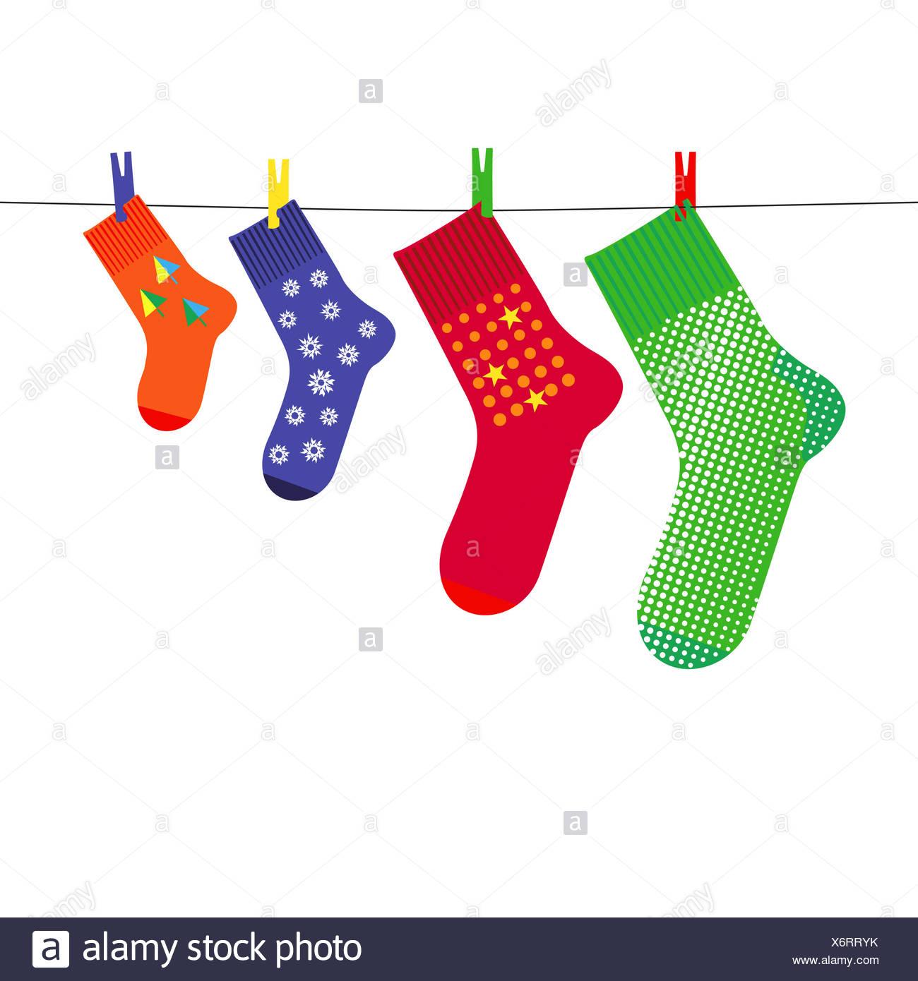 Christmas sock Stock Photo