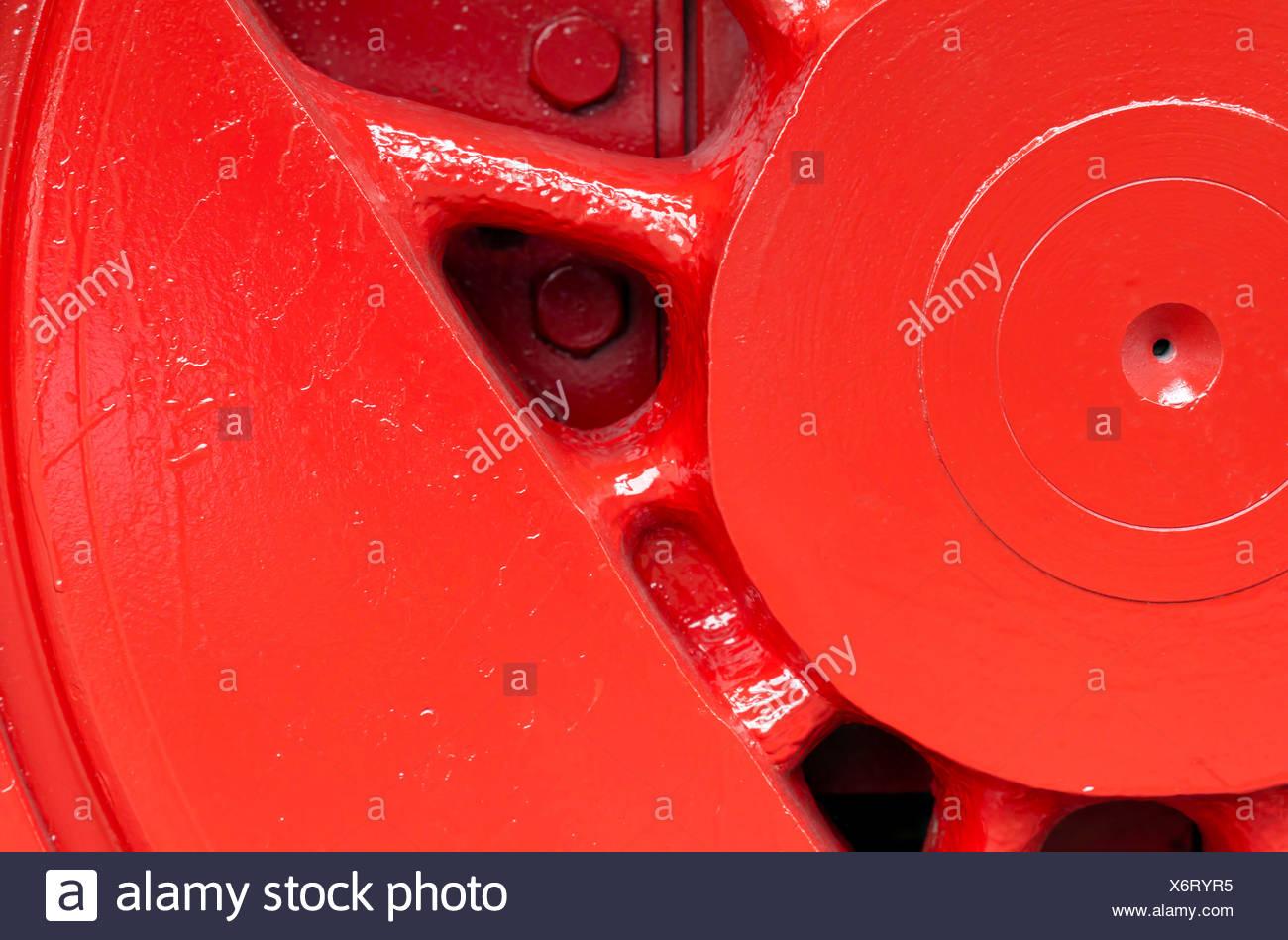 a steam locomotive closeup - Stock Image