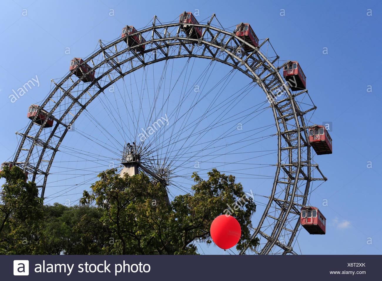 Big wheel at the Wiener Prater, Vienna, Austria, Europe Stock Photo