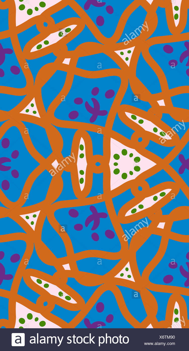 Seamless Background Wallpaper Pattern Of Orange And Blue