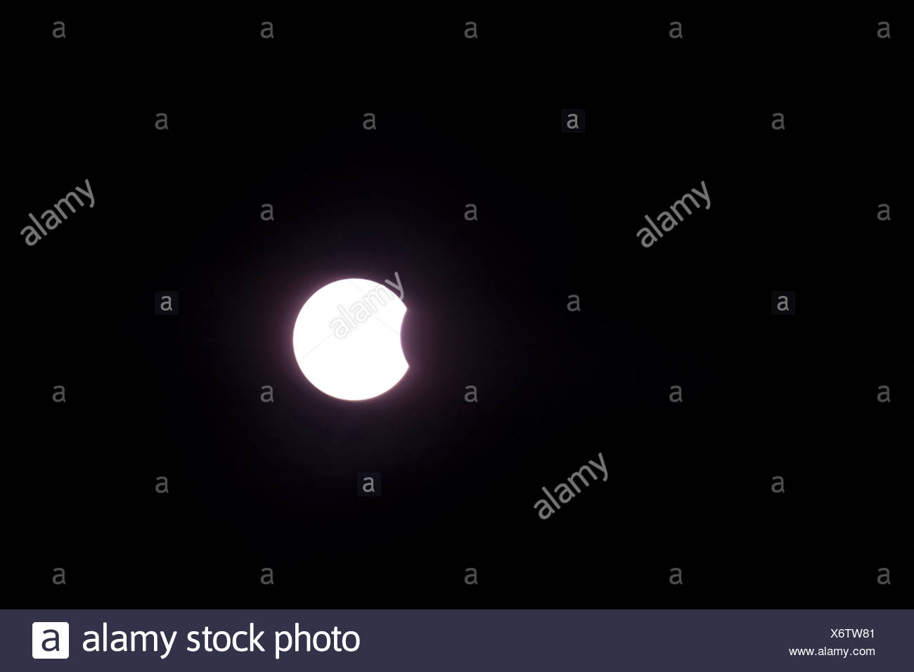 partial solar eclipse, 04.01.2011, Germany, Baden-Wuerttemberg, Baden-Baden - Stock Image