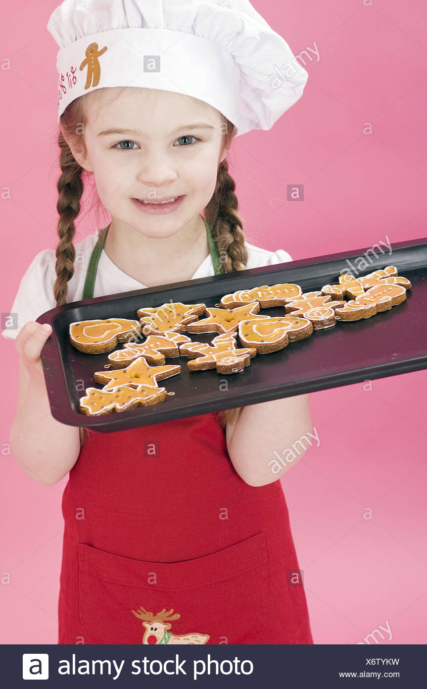 Girls, baking sheet, little place, studio, - Stock Image