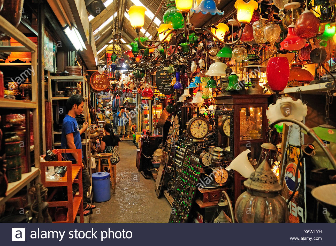 Chatuchak, Weekend, Market, Bangkok, Thailand, Asia, business, trade, - Stock Image