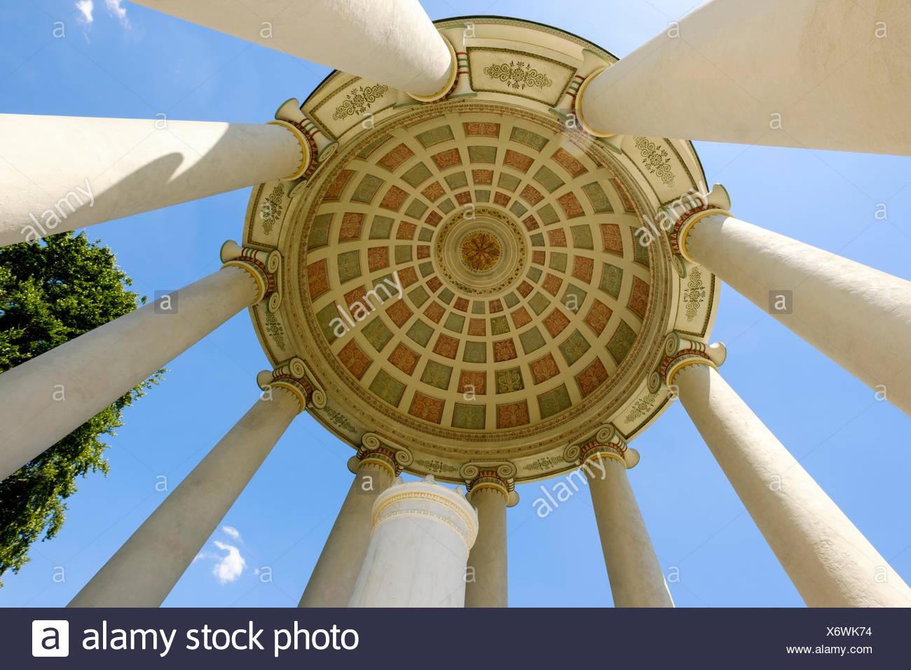 Monopteros, Englischer Garten, München, Oberbayern, Bayern, Deutschland - Stock Image