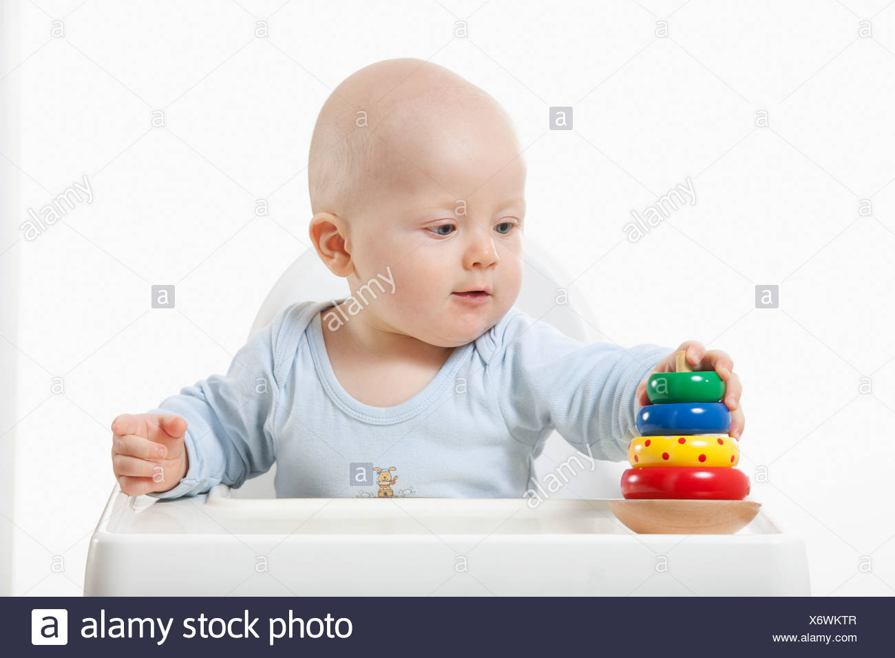Baby Boy 6 11 Months Playing With Toys Stock Photo 279618215 Alamy