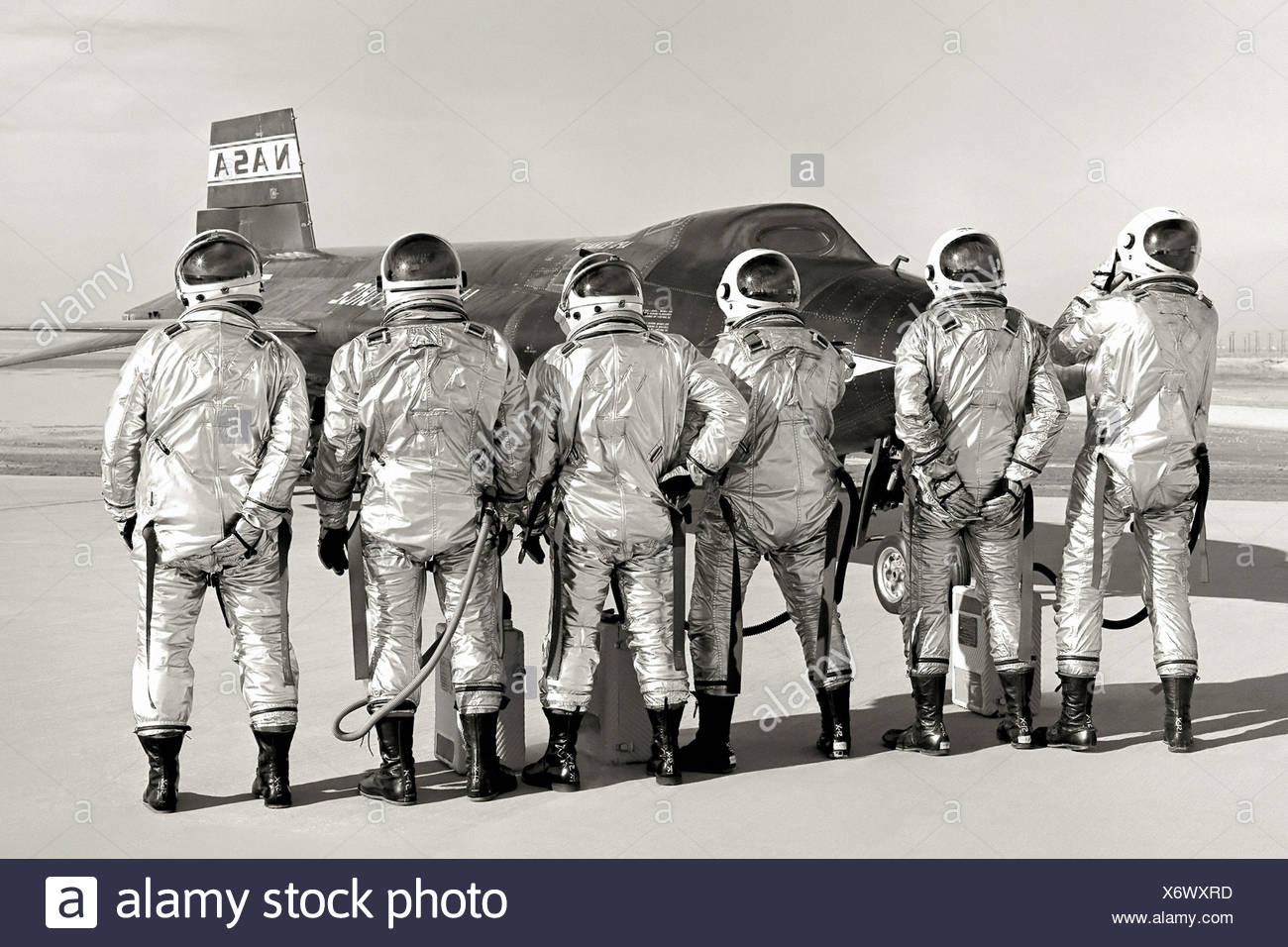 X-15 and Pilots - Stock Image