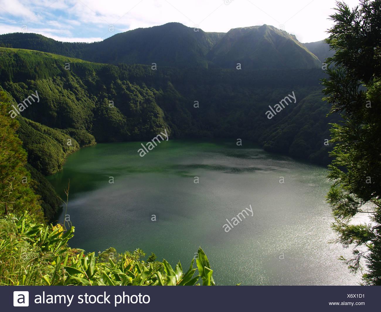 lake,azores - Stock Image