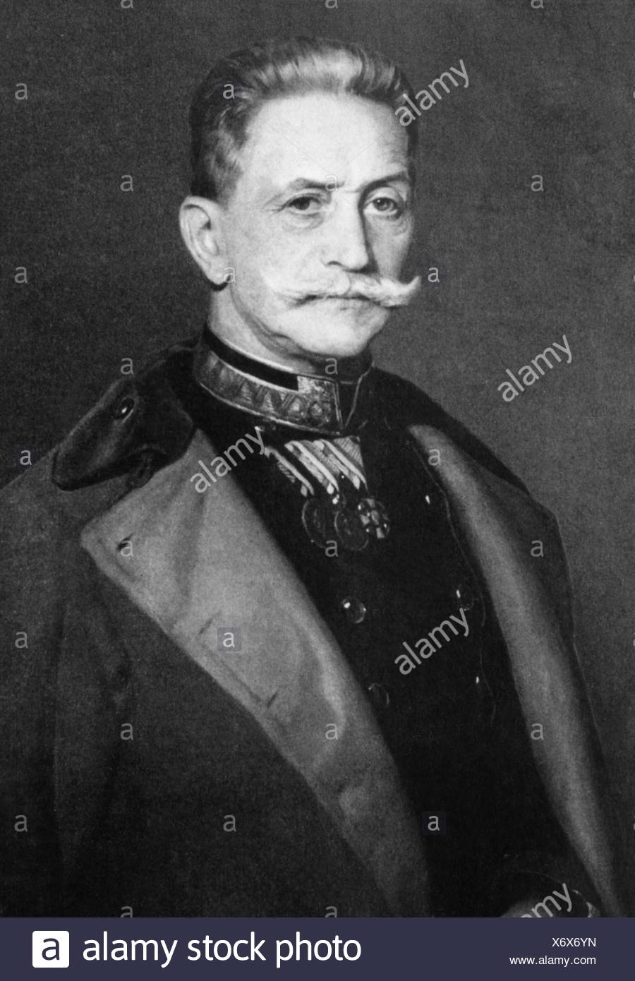 Conrad von Hoetzendorf, Count, 11.11.1852 - 25.8.1925, Austrian field marshal, chief of the general staff of the Austro-Hungarian army, half length, Additional-Rights-Clearances-NA - Stock Image