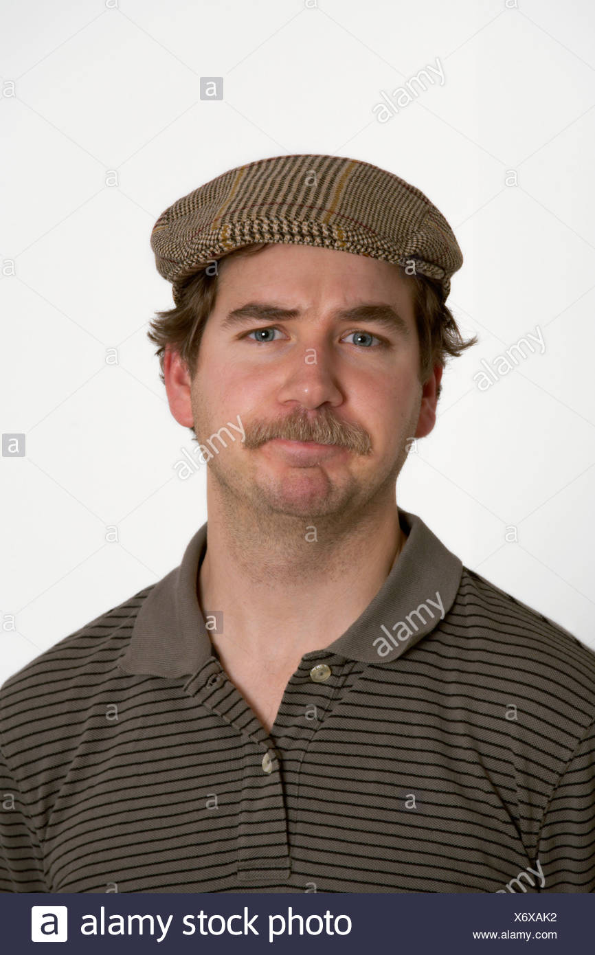 HUMOUR MAN WITH MOUSTACHE - Stock Image