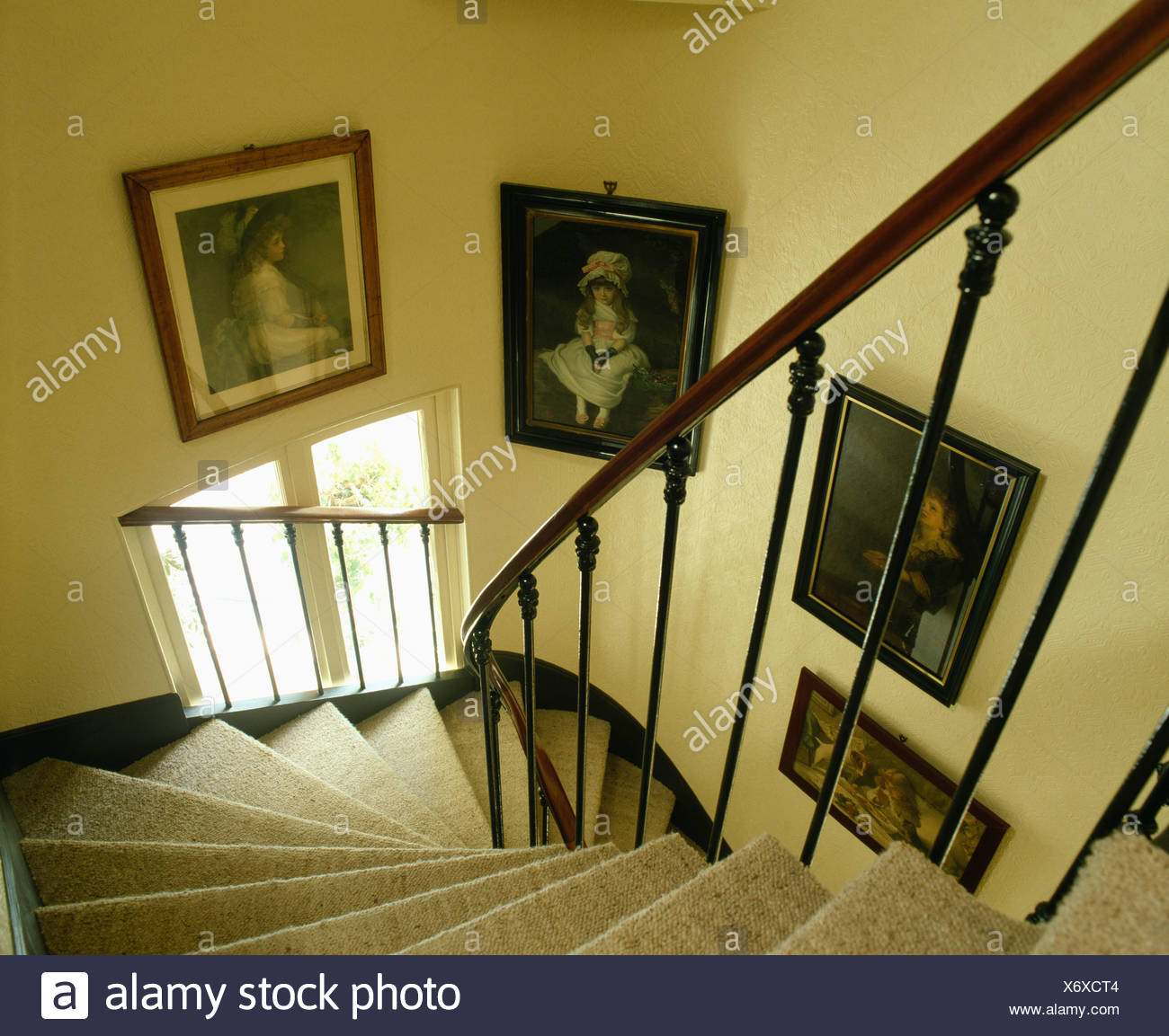 Interiors Stairs Banisters Traditional Stock Photos & Interiors ...