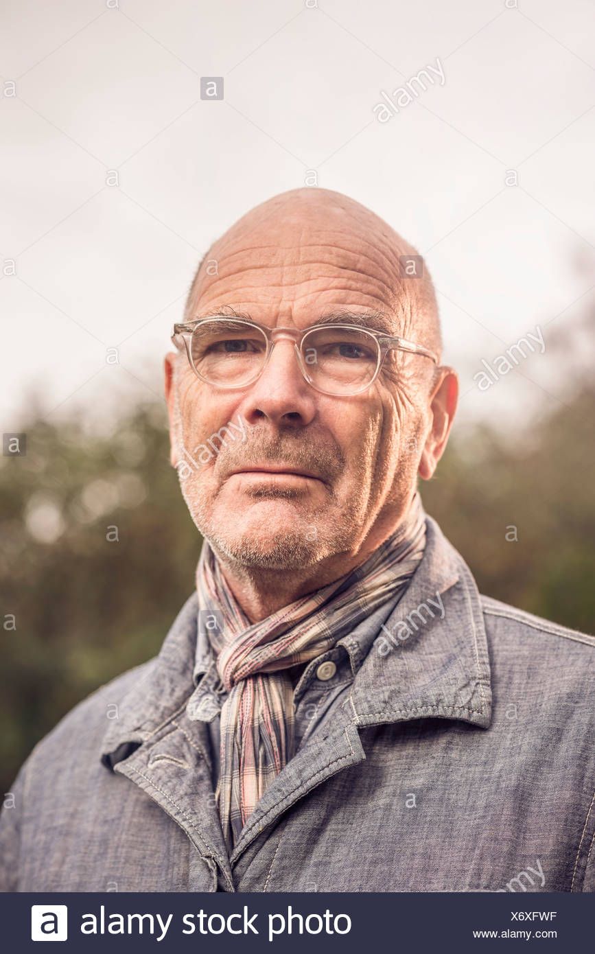 Portrait of senior man - Stock Image