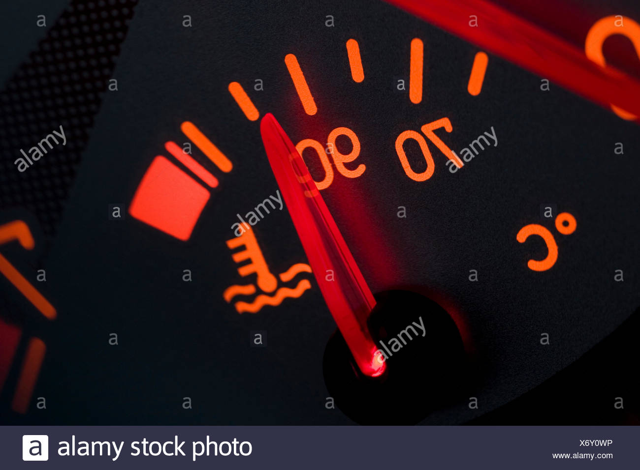 dashboard of peugeot 206 cc (no pr) Stock Photo