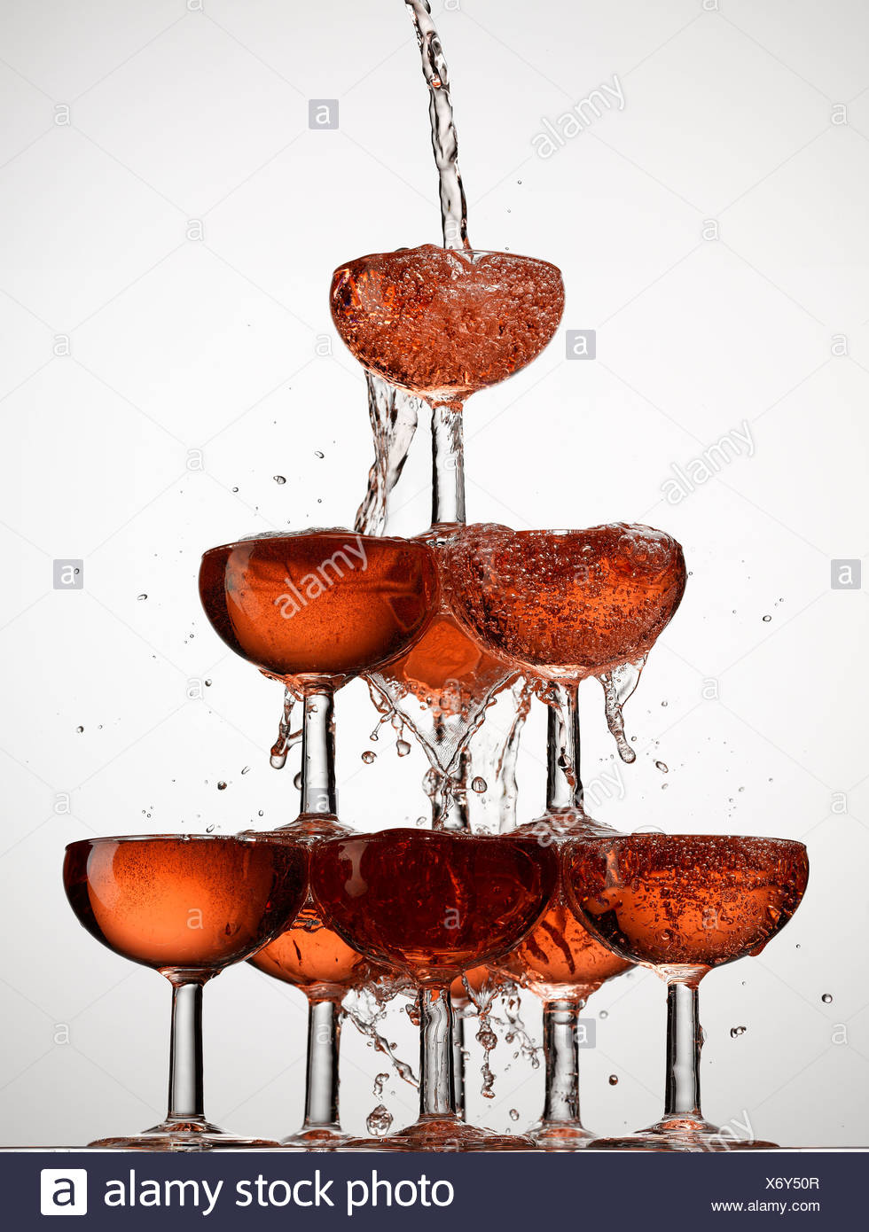 abundance,bubble,celebration,champagne,champagne glass,color image,concept,energy,excess,exuberance,filling,food and - Stock Image