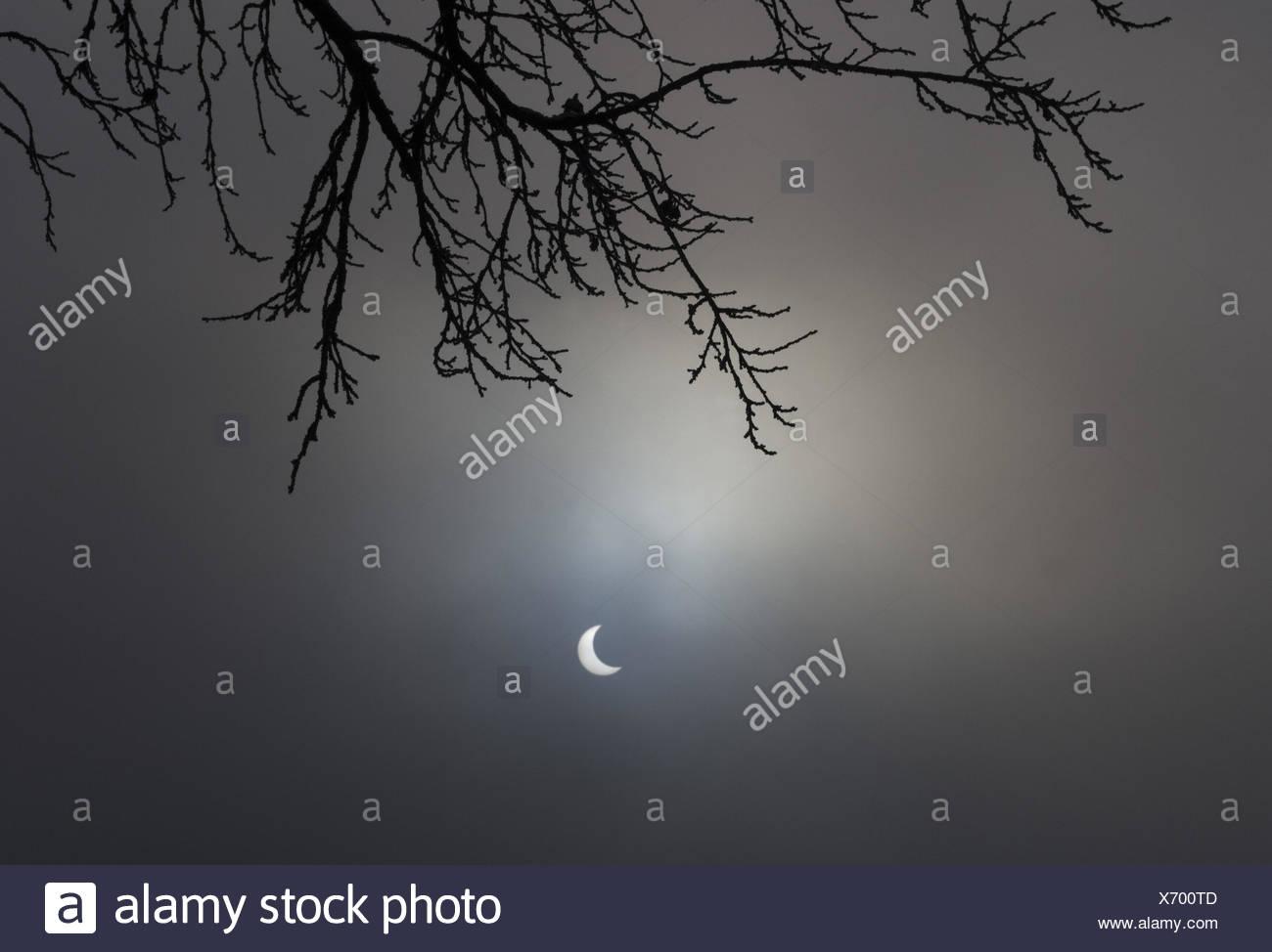 Austria, salt chamber property, lunar lake, solar darkness, 04.01.2011, - Stock Image