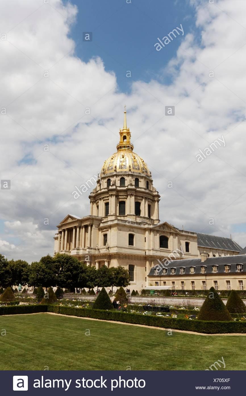invalides in paris - Stock Image