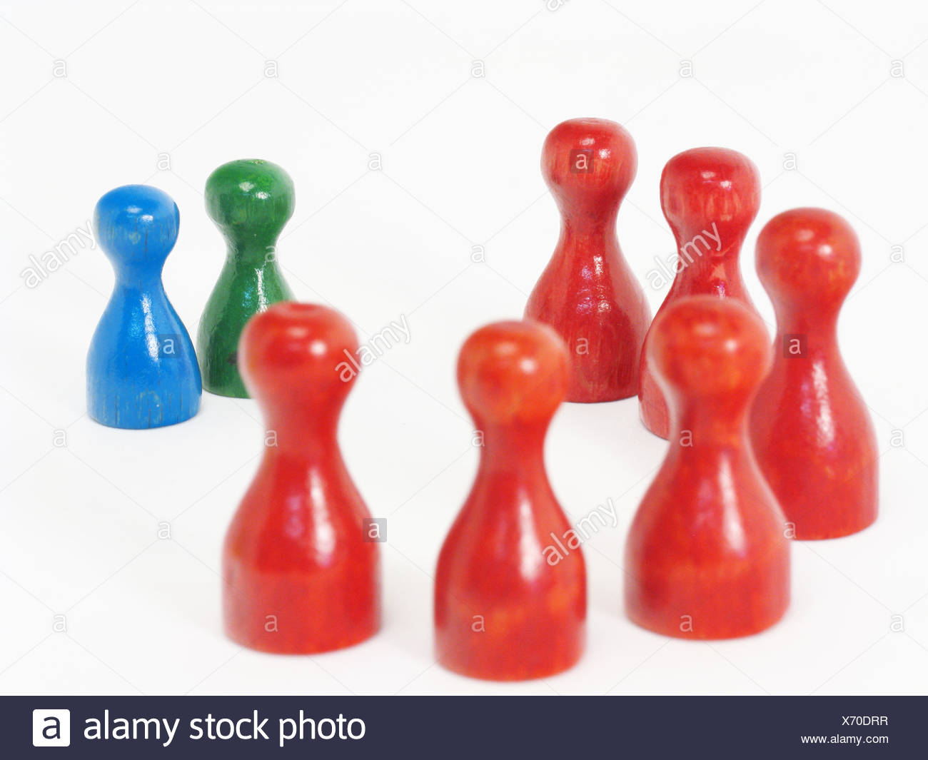 group,assembly,tile,pawn,manager - Stock Image