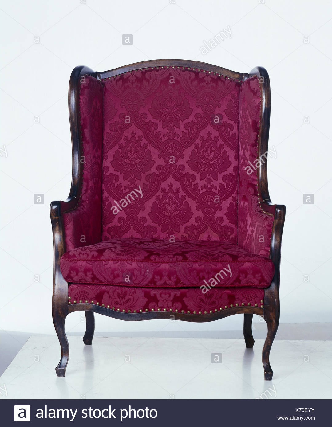 Armchair, red, St. furniture, period furnitures, upholstered chairs, antique,  seat piece furniture, chair, product photography, Still life, studio, cut  out - Armchair, Red, St. Furniture, Period Furnitures, Upholstered Chairs
