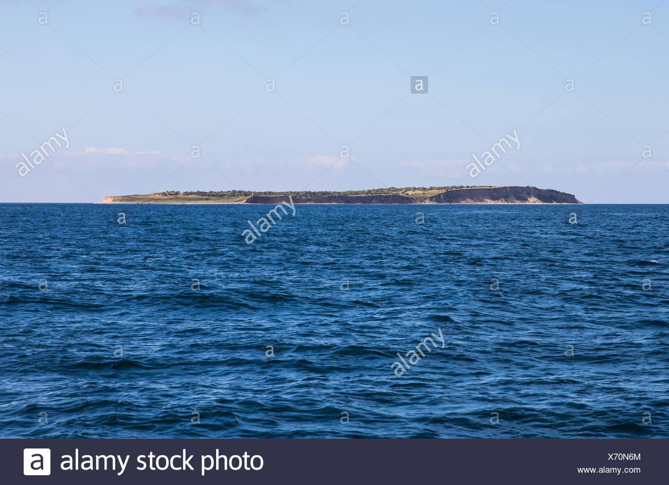 small island between grenå and samsø, kattegat, denmark / kleine insel zwischen grenå und samsø, kattegat, dänemark - Stock Image