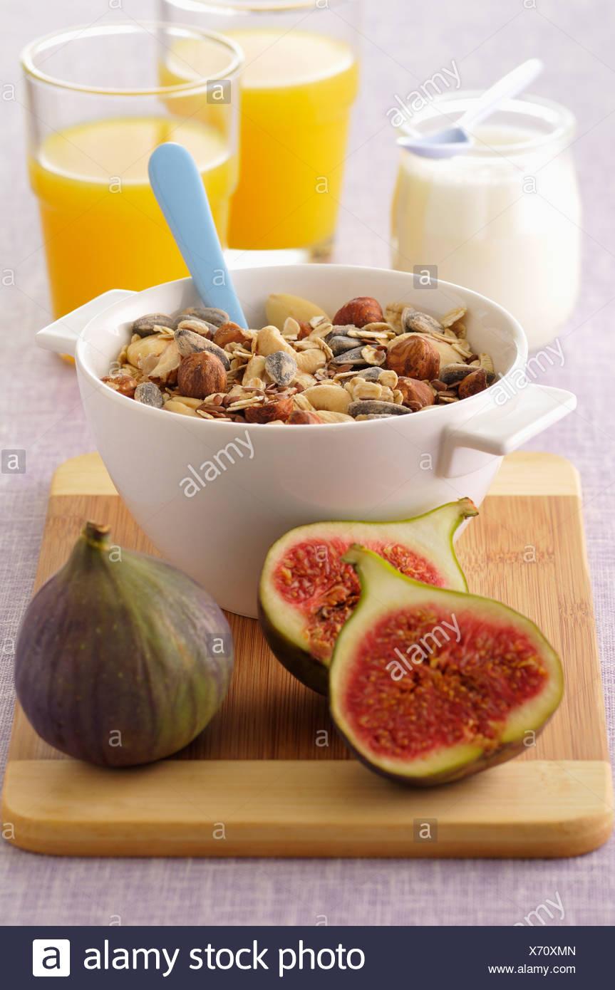 Seedy fruit muesli - Stock Image