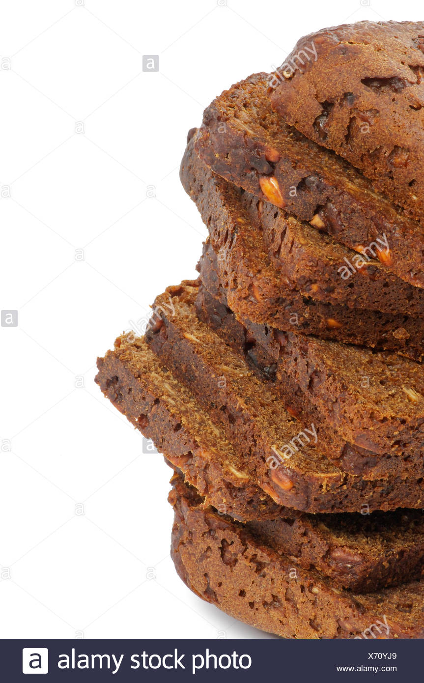 Stack Of Brown Bread Slices Clipping Path Stock Photo