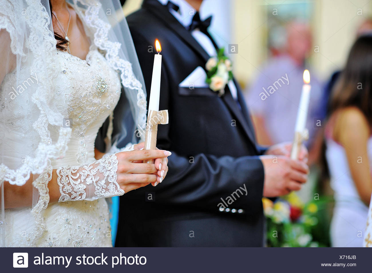hands of newlyweds - Stock Image
