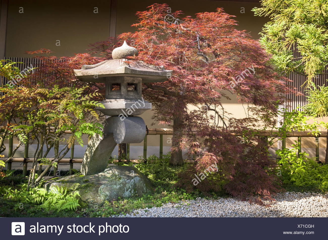 Japanese Garden Fence Stock Photos & Japanese Garden Fence Stock ...