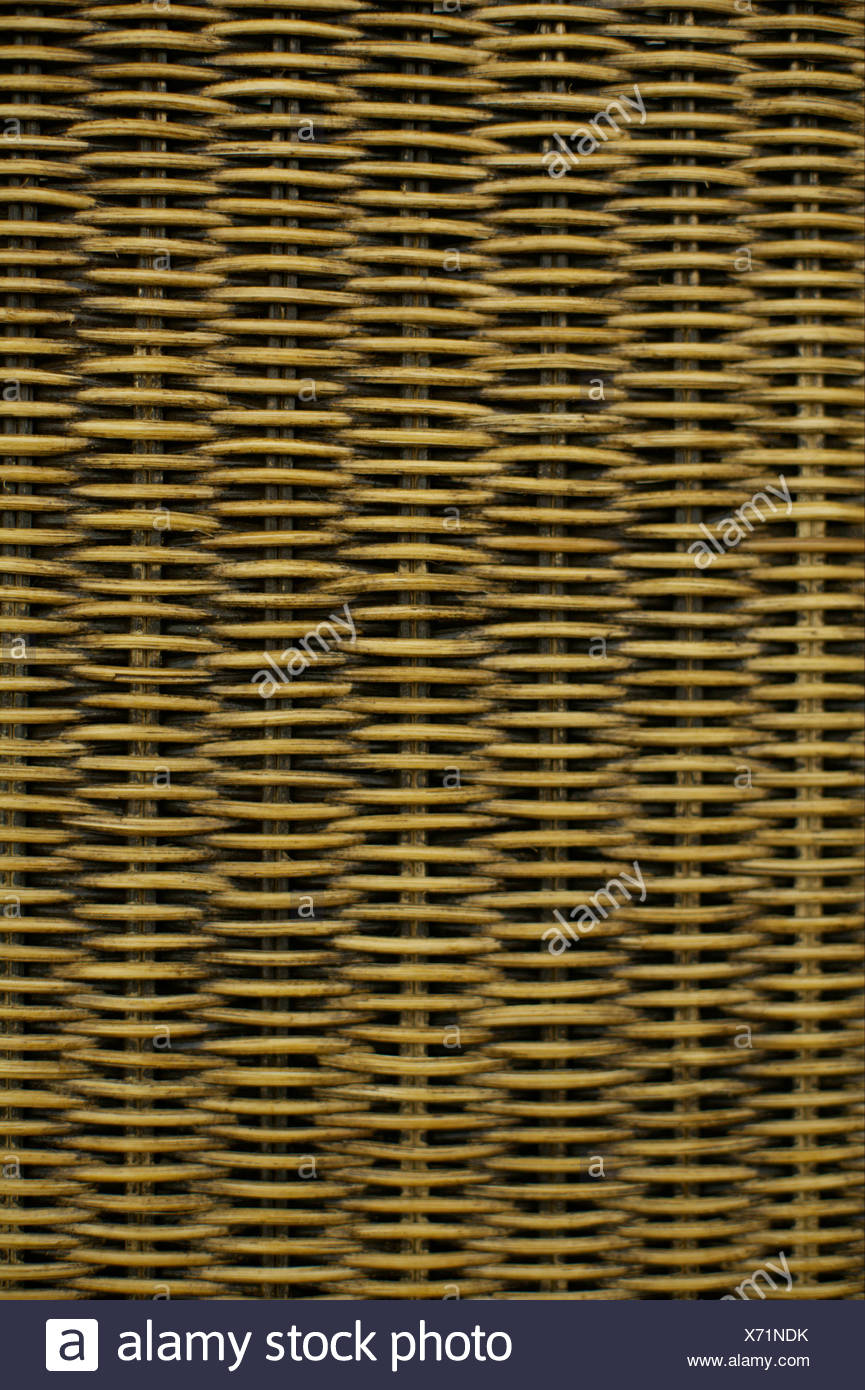 Close-up of basketwork - Stock Image