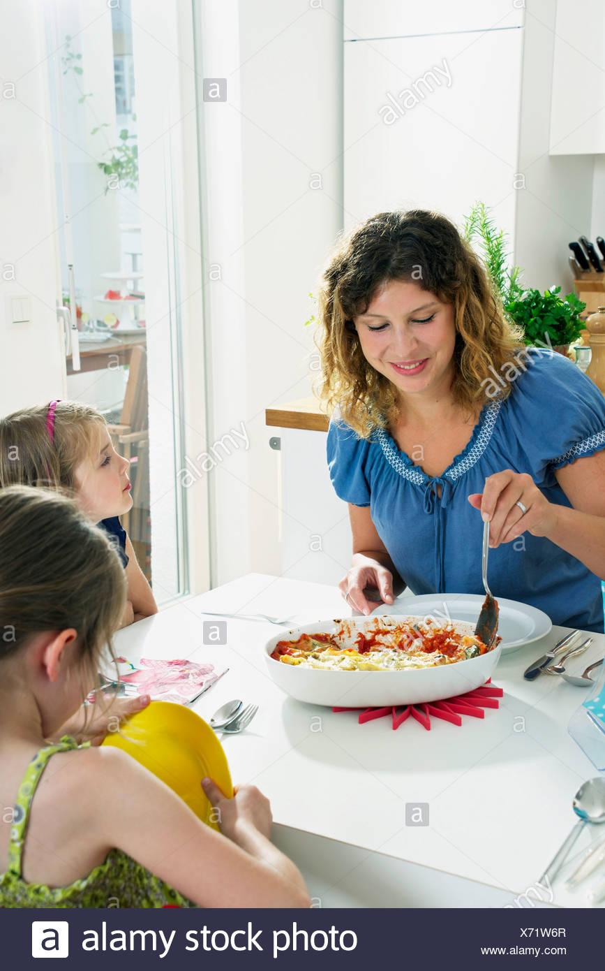 Family Having Dinner - Stock Image