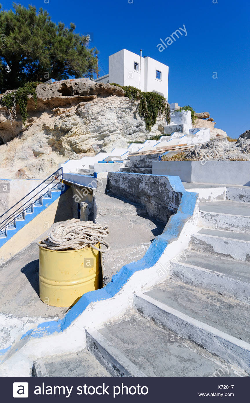 Stairway, Milos, Cyclades, Greece, Europe - Stock Image