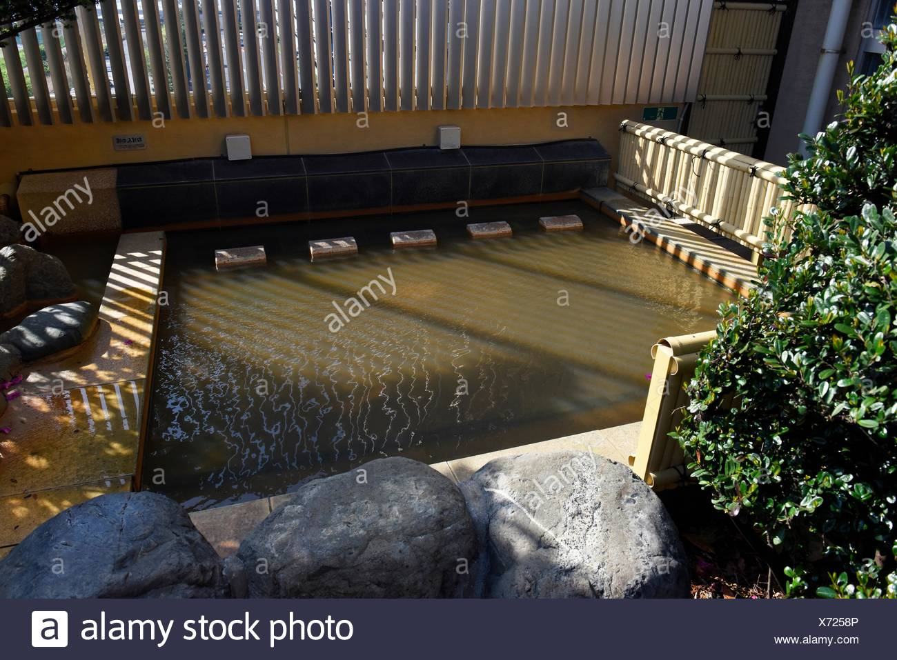 A traditional japanese bath or onsen in Tokyo, Japan,Asia Stock ...